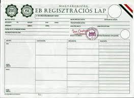 Regisztrációs lap